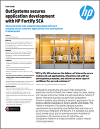 Web Security: HP Fortify OutSystems case study