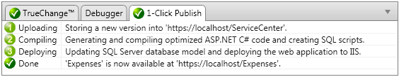 1-Click Publish status window