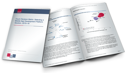 Sample pages from Ovum's MADP decision matrix report