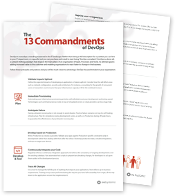 13 Commandments DevOps: a list of great developer operation guidelines