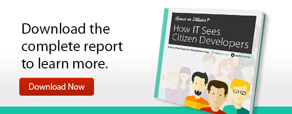How IT Sees Citizen Developers - Download Report