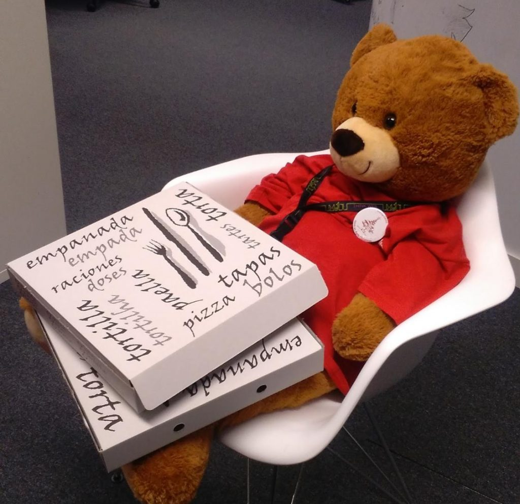 OutSystems Teddy Bear with Pizza