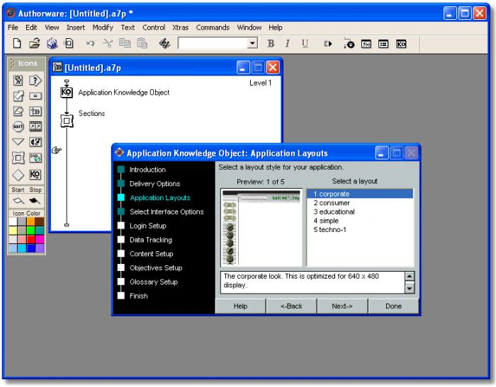 what is visual programming authorware