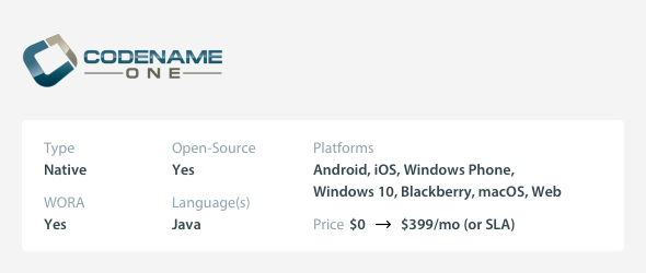 Small Budget Cross-Platform Mobile App Development Tools - CodeName One