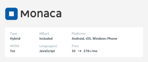 Small Budget Cross-Platform Mobile App Development Tools - Monaca