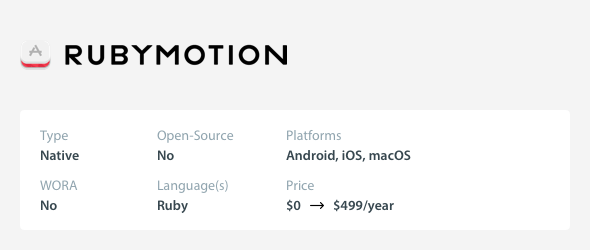 Small Budget Cross-Platform Mobile App Development Tools - RubyMotion