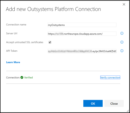 Registering a VSTS service endpoint for OutSystems