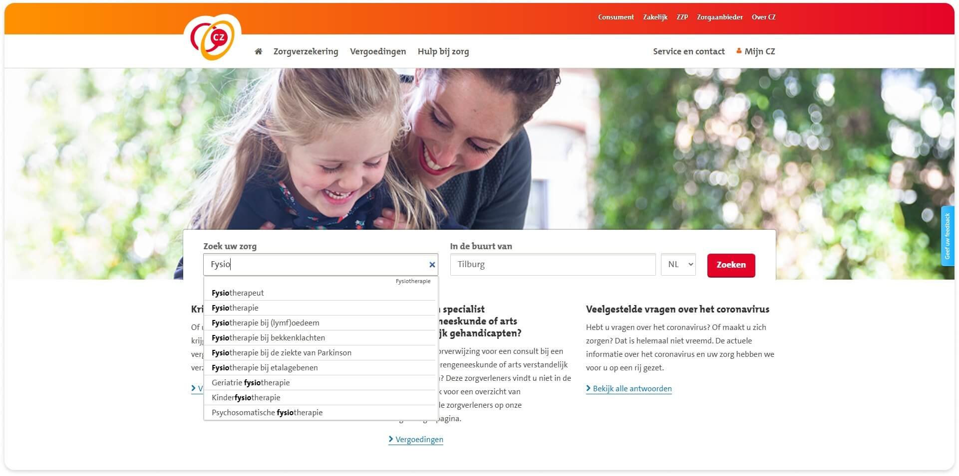 CZ Health Insurance - Zorgvinder – Care Finder