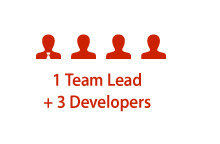 JMS - 1 Team Lead + 3 Developers