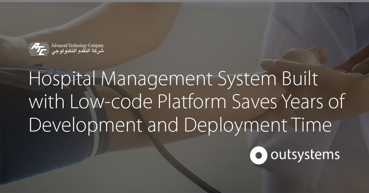 Hospital Management System Deploys in Weeks, Not Years | OutSystems