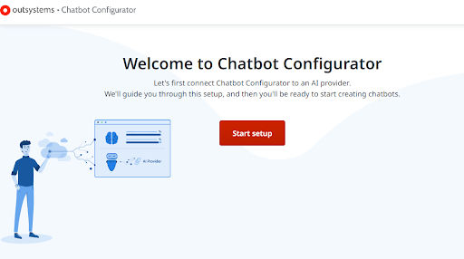 OutSystems Chatbot Configurator login