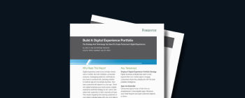 Build a Digital Experience Portfolio: The Strategy and Technology You Need To Create Tomorrow's Digital Experiences