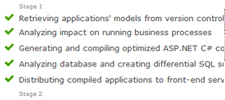 Complete control when deploying multiple applications, services and data schema upgrades
