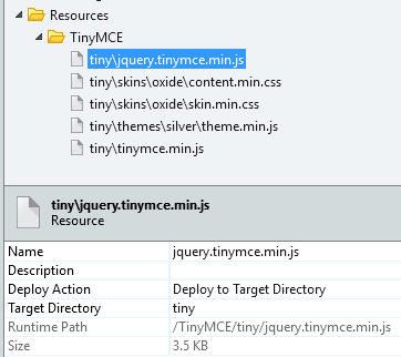 Set the proper Deploy Action in the resources.