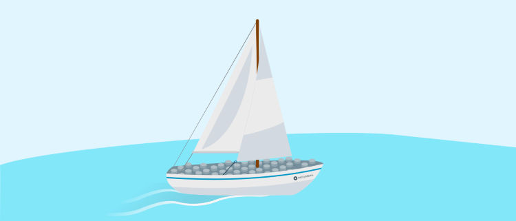 A boat in the water