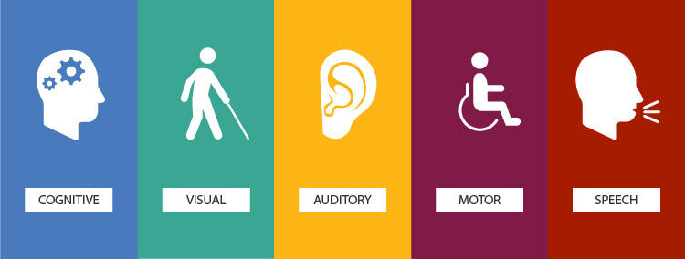 The 5 Categories of Disabilities: Cognitive, Visual, Auditory, Motor, and Speech