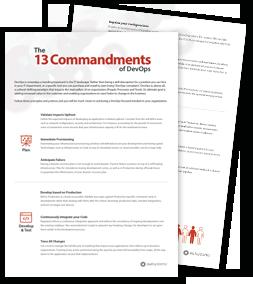 The 13 Commandments of DevOps: Does Your IT Lag Behind Market Demands?
