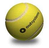 "An official OutSystems ""Ball Point Game"" Tennis Ball"