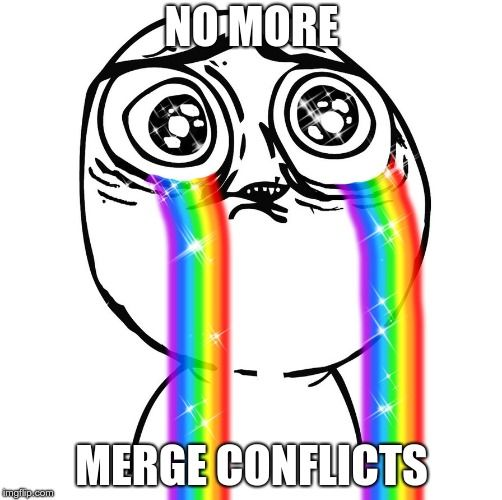 No more merge conflicts