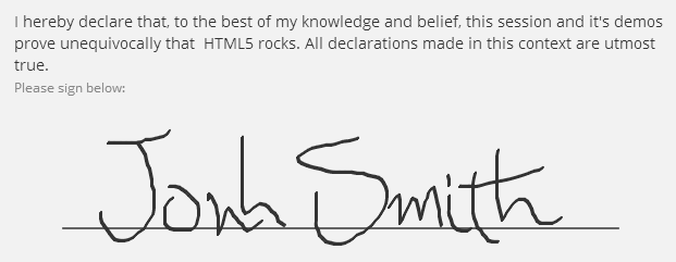 John Smith's signature captured by one of the best html5 features: canvas
