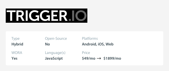 Small Budget Cross-Platform Mobile App Development Tools - Trigger.io